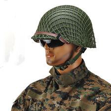 WWII U.S M1 steel helmet with Netting cover & Sweatband