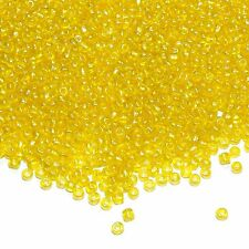 SB1452p Yellow Crystal Luster 6/0 (4mm) Transparent Glass Seed 1oz (260 Beads)