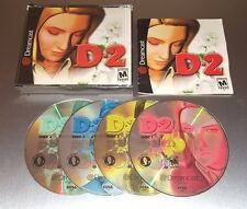 D2 ☆☆ Complete w/ MINT CASE, Fully Tested ☆☆ - Sega Dreamcast D 2 D-2