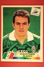 PANINI WC WM FRANCE 98 1998 N. 369 MEXICO BLANCO WITH BLUE BACK MINT!!