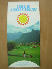 VINTAGE TOURIST BROCHURE OBERAMMERGAU GERMANY 1970's WITH MAP
