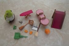 Battat Li'l Woodzeez Turtle Calico Critters Playground Slide See Saw Teeter LOT
