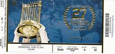 2014 YANKEES VS BLUE JAYS JETER LAST YEAR SUITE TICKET STUB 6/18 WS TROPHY