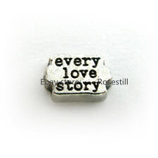 10pcs every love story Floating Charms DIY Glass Living Memory For Locket FC1392