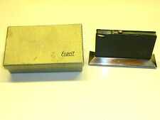 ESPRIT VINTAGE BLACK LACQUER TABLE LIGHTER - 1950 - OVP - MADE IN GERMANY