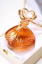 Perfume Bottle Large- SC Line crystal -Made in Italy- Orange Amber- Beautiful !