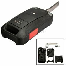 2 Button Folding Remote Key Fob Case Shell With Blade For Porsche Cayenne 03-11