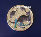 $1 Coin 2014 Mob of Roos Colour Printed Australian One Dollar UNC in 2x2 holder