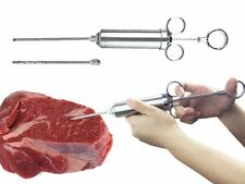 2Oz Stainless Steel Turkey Meat Marinade Injector Needles Grill BBQ Thanksgiving