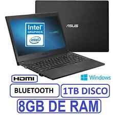 "PORTATIL ASUS 15"" INTEL 8GB RAM 1 TB grafica 1756mb WINDOWS"