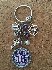 Sweet Sixteen Bottle Cap Key Chain  16th Birthday 16 #5