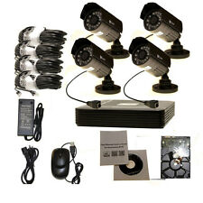 4CH Network IP NVR 720P HD Security  IN/OUT Door IR Cameras PoE System HMDI 1TB