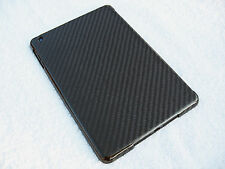 REAL FIBRA DI CARBONIO Nero Apple iPad Mini, 2 & 3 PROTETTIVA HARD CASE COVER
