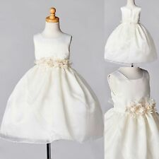 NEW Organza & Satin Dress Flower Girl Formal Pageant Recital Birthday Wedding#35