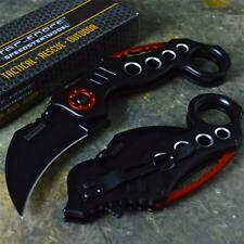 TAC-FORCE Speedster Rescue Black Karambit Spring Assisted Folding Pocket Knife