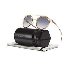 ic! Berlin Katharina L Sunglasses Rose Gold Caramel Frame / Black Gradient Lens