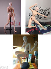Human Drawing Model Female Body Art Figure Display Sculpture Sketching Craft 12""