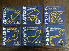 "Set of 6  FOSTERS GRAND PRIX  overseas ""CIRCUITS "" BEER COASTERS"