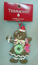Gingerbread Girl Candy Icing Cookie Dough Holiday Christmas Tree Ornament