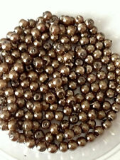 4mm Glass faux Pearls - Milk Chocolate Brown (200 beads)