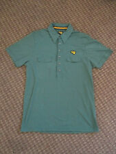 GOLA CLASSICS VINTAGE 1970s STYLE POLO / CASUAL SHIRT - GREEN - SIZE LARGE