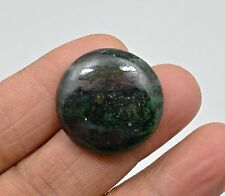 37.20 CT NATURAL RUBY ZOISITE ROUND CABOCHON LOOSE GEMSTONE