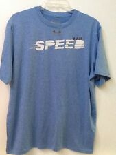 Under Armour Heat Gear Blue Run I Am Speed Shirt size L Regular Fit EUC