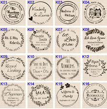 custom name self inking business family wedding return address rubber stamp 1.5""