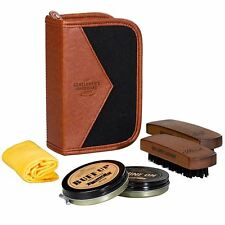 Wild & Wolf Gentlemen's Hardware Shoe Shine Kit with Polish and Brushes