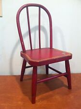 Antique Vintage Child's Doll Toy Wooden Chair