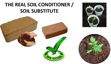COCO PEAT SOIL CONDITIONER COCO PEAT SOIL SUBSTITUTE BRICK 1KG(EXPANDS TO 18LTR)
