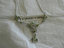 Premier Designs ANASTASIA green crystal Y necklace RV $31 free ship w/bin