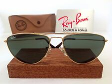 NOS B&L RAY BAN FASHION METAL AVIATOR G15 BAUSCH LOMB USA CASE RARE VTG MINT