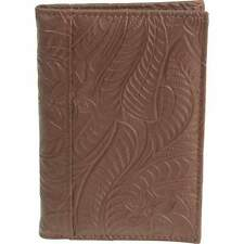 Casual Outfitters Brown Solid Genuine Leather Passport Cover