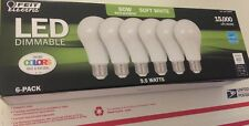 6x Feit Electric LED • 60 Watt/9.5W • Soft White  • Dimmable • 2700K