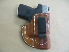 Kahr PM9, CM9, MK9  IWB  Leather Inside Waistband Concealed Carry Holster TAN RH