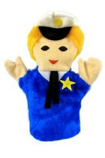 Policeman Blue Suit Gold Star Children Pretend Hand Sheram Puppet Inc New
