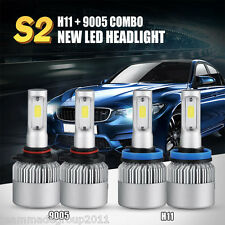 4x H11 9005 LED Total 240W 24000LM Combo Headlights CREE Kit Hi-Lo Beam 120W Car