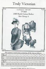 Schnittmuster Truly Victorian TV 460: 1885 Cuirass Bodice, Gr. A