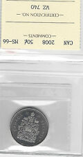 **2008** ICCS Graded, Canadian, 50 Cent, **MS-66**