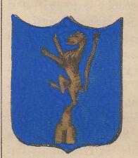 1865 Stemma di Montieri (araldica civica), Grosseto, lito acquarellata