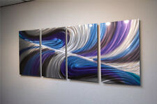 Abstract Metal Wall Art- Contemporary Modern Decor Original Echo in Purple/Blue
