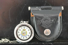 Rare 1997 Defunct Royal Hong Kong Police Pocket Watch Original Leather Wallet
