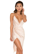 "HOUSE OF CB 'Coco' Nude Satin Drape Back Dress ""Faults."" MM 5533"