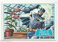 1966 Topps Batman Blue Bat with Bat Cowl Back (33B) Gassed By A Geranium
