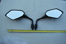 NEW PAIR OF UNIVERSAL MOTORCYCLE E MARKED Honda Kawasaki Suzuki 10mm Mirrors