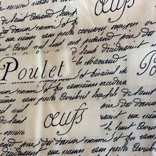 Windham Whistler Studios LE POULET FRENCH WORDS cream fabric Fat Quarter(s)
