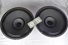 """Pair Rare Vintage Crisman 15"""" Speakers CTS Model 15G10430 5/1500 Full/Extended"""