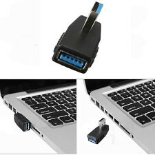 USB 3.0 SUPER SPEED Right Angle Type A Male to Female Converter Adapter Cable