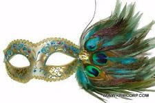 Peacock Feathers Venetian Mardi Gras Masquerade Mask M3704D Costume Halloween
